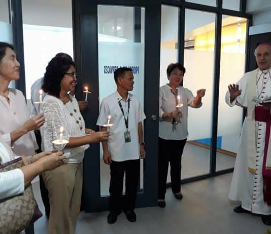 Blessing of Bukas Palad Foundation Manila Tramo office